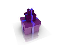 Gifts box over background 3d illustration. Cube abstract Vector Illustration