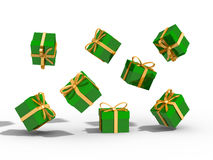 Gifts box over background 3d illustration Royalty Free Stock Image