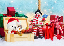 Gifts box, Surprise for Christmas Royalty Free Stock Photo