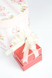 Gifts box on the white Stock Image