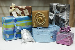 Gifts, boxes. Stock Images
