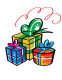 Gifts in Boxes Royalty Free Stock Photo