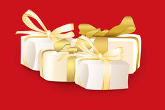 Gifts are in boxes Royalty Free Stock Photography