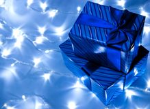 Gifts Boxes And Garland Royalty Free Stock Photos