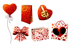 Gifts, boxes, packages and bows. Stock Images