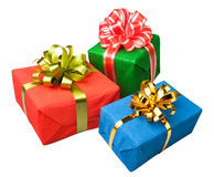 Gifts boxes presents Royalty Free Stock Photography