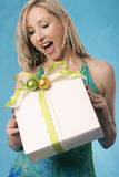 Gifts bring a smile Stock Photos