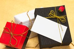 Gifts with a card Royalty Free Stock Images