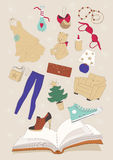 Gifts from Catalog. Illustration of various gifts from catalog Royalty Free Stock Image