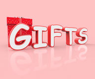 Gifts Celebrate Indicates Celebration Fun And Cheerful Stock Image
