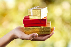 Gifts and celebrations Royalty Free Stock Photo