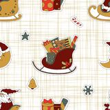 Gifts for children at Christmas from Santa Claus. Stock Image
