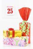 Gifts on christmas Stock Photos