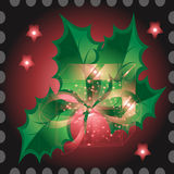 Gifts with Christmas background and greeting card vector Royalty Free Stock Photography