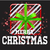 Gifts with Christmas background and greeting card vector Royalty Free Stock Image