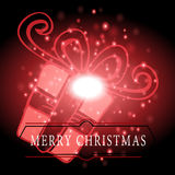 Gifts with Christmas background and greeting card vector Stock Photos