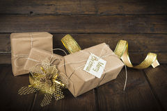 Gifts for christmas celebration Royalty Free Stock Image
