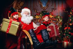 Gifts on Christmas Royalty Free Stock Images