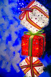 Gifts at the Christmas tree Royalty Free Stock Images
