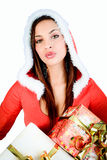 Gifts christmas woman Stock Photography