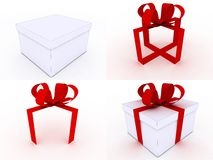Gifts with clipping path Royalty Free Stock Photos