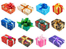 Gifts collection Royalty Free Stock Photography