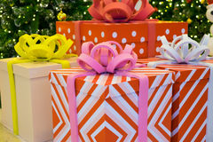 Gifts. Colorful gifts for anniversary festival Royalty Free Stock Image