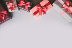 Gifts with copy space. Royalty Free Stock Image
