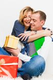 Gifts couple Royalty Free Stock Photography