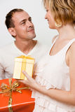 Gifts couple Stock Photos