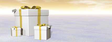 Gifts - 3D render Royalty Free Stock Photo