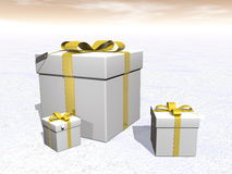 Gifts - 3D render Stock Image