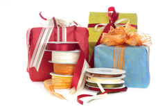 Gifts and Decoration tape Stock Photo