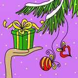 Gifts and decorations Stock Photography