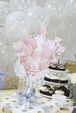 Gifts, Decorations And Cake Stand Stock Image