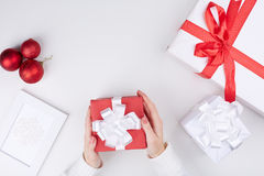 Gifts and decorations Royalty Free Stock Photography