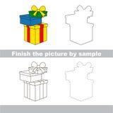 Gifts. Drawing worksheet. Stock Image