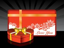 Gifts elements concept  for valentine day Royalty Free Stock Image