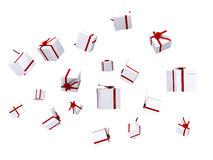 Gifts falling down Royalty Free Stock Photos