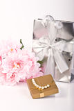 Gifts - Flowers And Jewellery Stock Images
