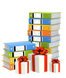 Gifts and folders Stock Photo