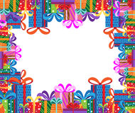 Gifts frame Royalty Free Stock Images