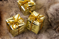 Gifts on fur Stock Image