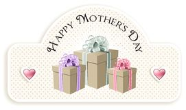 Gifts Greeting for mom in her day Royalty Free Stock Photos
