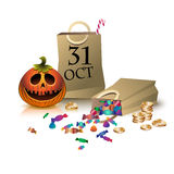 Gifts on halloween. (2) Royalty Free Stock Photo