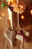 Gifts with heart and flowers Stock Image