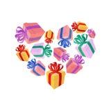 Gifts heart. I love gift. I like holidays Stock Photo
