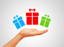 Gifts. High resolution image with gifts royalty free stock photography