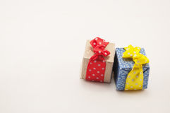 Gifts for the holiday. Gifts in colorful package  on holiday Stock Photo
