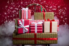 Gifts for Holidays, Christmas, anniversary Royalty Free Stock Photography